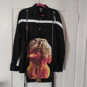 NWT Hood By Air atomic bomb button down